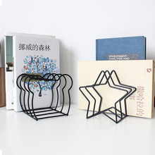 Nordic Iron Art Desktop Bookshelves Creative Cartoon Simple Magazines Books Receiving Home Storage Holders Ornament Organizer
