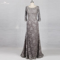 RSE770 Silver Gray Mother Of Bride Dresses Lace