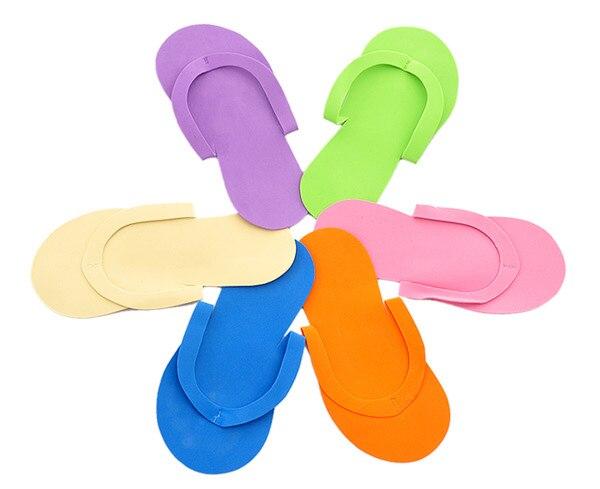 Il trasporto libero 100 pz/lotto Monouso Slipper/Schiuma EVA Salon Spa Slipper/Pedicure Monouso perizoma Pantofole/Beauty Slipper