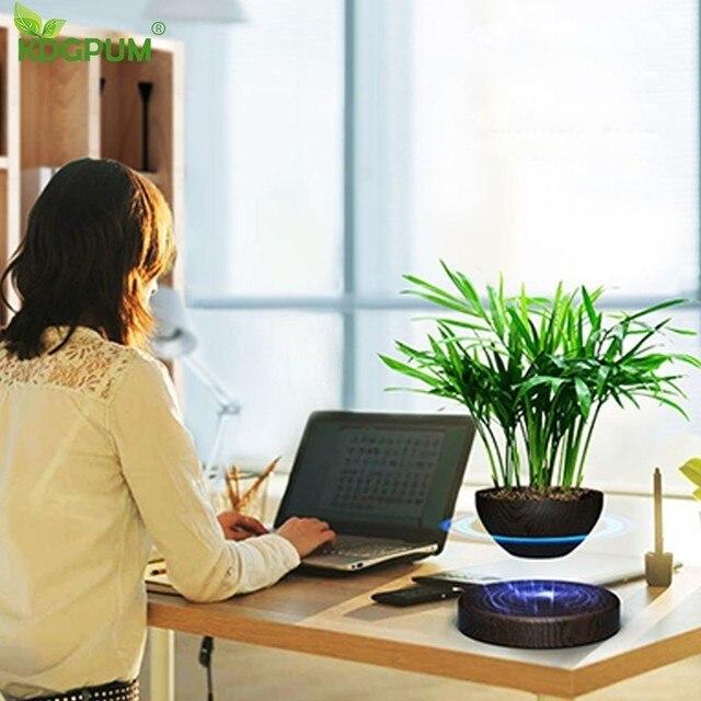 EU/US/AU Plug Levitating Air Bonsai Pot Magnetic Levitation Plants Planter Flower Pots Potted Succulent Plant Home Office Decor 5
