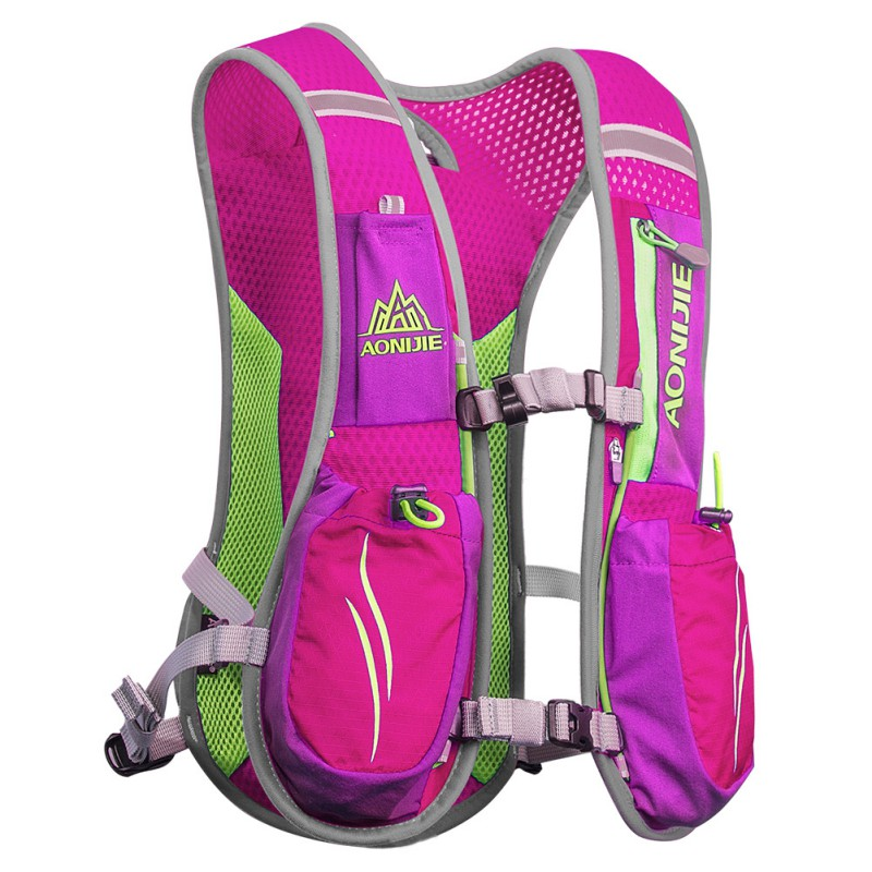 купить Outdoor Sports Lightweight Running Backpack Trail Racing Marathon Hiking Fitness Bag Hydration Vest Pack недорого