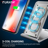 Quick Charge 3 0 QI Wireless Charger QC3 0 Fast Charge Desktop Fast Charging Pad Stand