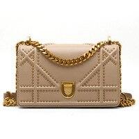 Vintage Luxury Handbags Women Bags Designer Shoulder Bags Shield Hasp Flap Geometry Pleated Chains Crossbody Bags