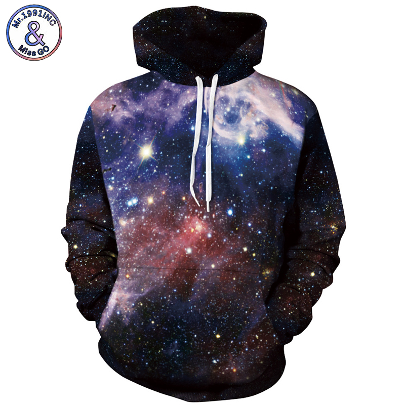 Mr.1991INC Europe America Hot Space Star Sky Casual Sweatshirts Men Hooded Hoodies Men Pullovers hoodie Sweatshirt S-3XL M010