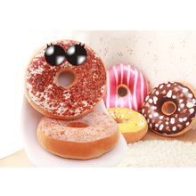 Chocolate Donuts Cushion Soft Plush Pillow Car Seat Mats Single Hole Beautiful Hip Toy D