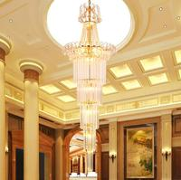 With good staircase crystal lights villas stairs hotel engineering lights crystal chandeliers SJ15 light ya74       -