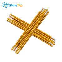 2Pcs/Set Tent Rod Camping Aluminum Alloy Tent Pole 8.5mm Spare Replacemet Tent Building Supporting Accessories With Bag