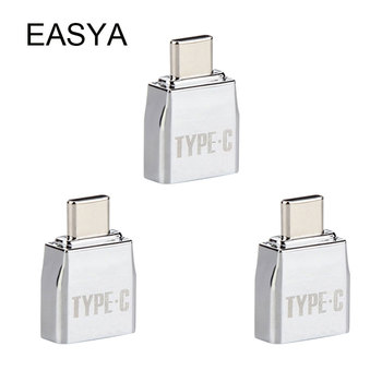 EASYA Metal OTG USB Type-C Adapter USB-C Male To USB 2.0 Female Converter for Macbook Pro 2pieces/lot