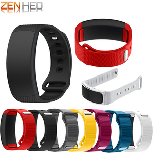 Image 1 - Silicone Sport Watch band For Samsung Gear Fit2 Pro fitness Watch bands Wrist Strap For Samsung Gear Fit 2 SM R360 Bracelet