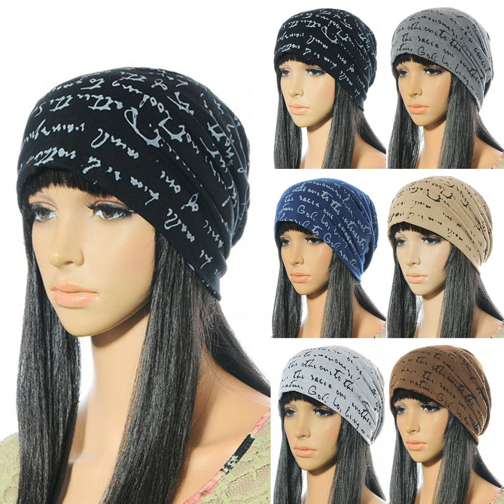 цены  Women hat Unisex Warm Winter Cotton Polyester Knit Women Beanie Cap Letter Printed Hip-Hop Hat Bonnet Femme
