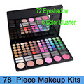 Free shipping!! 78 Color combined eyeshadow & Blusher & lip gloss makeup Palette 02# Cosplay Set