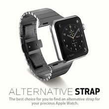 Stainless Steel Butterfly Buckle Metal Straps for Apple 38mm/42mm Series 3 2 1
