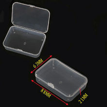 1PC Hot Sale!!!Small Plastic Transparent With Lid Collection Credit Card Bank Card Container Case Storage Box