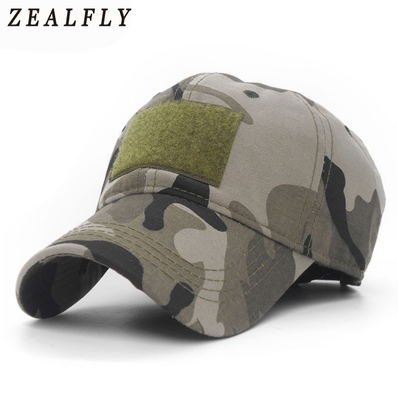 Camouflage Military Army Hunting Fishing GREEN BEIGE GREY BLACK Cotton Cap Hat