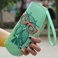 Owl Wearing Glasses Pattern Ladies Wallet New Style Fashionable Wallet 3 pattern hot Worldwide sale