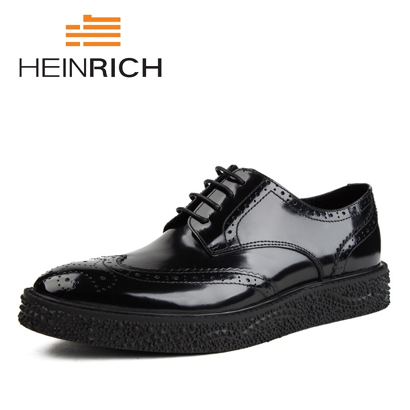 HEINRICH 2018 New Spring And Autumn Genuine Leather Shoes Men Casual Slip-On Loafers Breathable Driving Men Shoes Sapatos 2015 new spring and summer british top fashion leisure driving full grain embossed genuine leather slip on men s loafers shoes