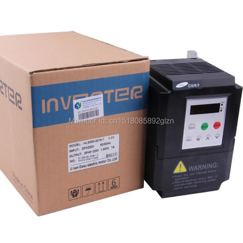 RITUO 1.5KW VFD convertidor de frecuencia de 220v 1.5kw VFD Variador - Piezas para maquinas de carpinteria - foto 6