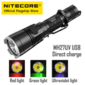 Linterna de batería de litio de largo alcance recargable de luz ultravioleta NITECORE MH27UV