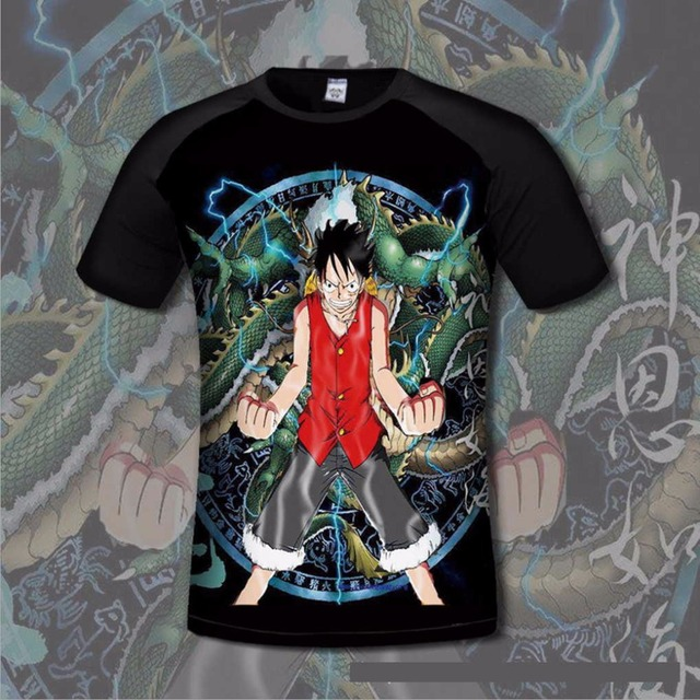 One Piece Luffy Men Cotton T shirt Comfortable Ace Anime Print flexible tshirts Casual gamer Clothing Breathable fashion shirt