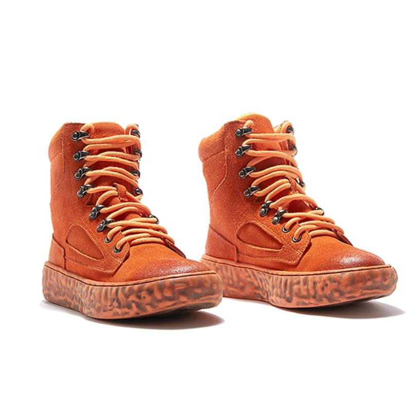 Étudiants Bottes Martin Les Ugi Velours Femelles Apricot British Femmes Cheville New D'hiver Vent orange 2018 Plat Chaud De Chaussures qHw57CnB5