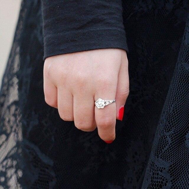 Sterling Silver Rose design Ring  4
