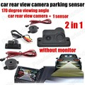 Car video Parking Sensors camera 2 In 1 Auto Reverse camera with parking radar Backup Radar 170 degree wide angle