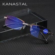 KANASTAL, ультралегкие очки без оправы для чтения, для женщин, мужчин, бизнес, анти-Blu-Ray, компьютерные очки для чтения, Пресбиопия, 1,5, для женщин