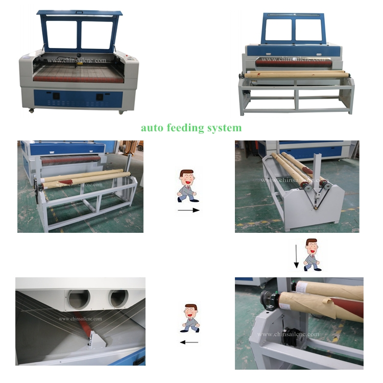 auto feeding fabric leather and textile laser cutting machine with ruida controller Machines Textile