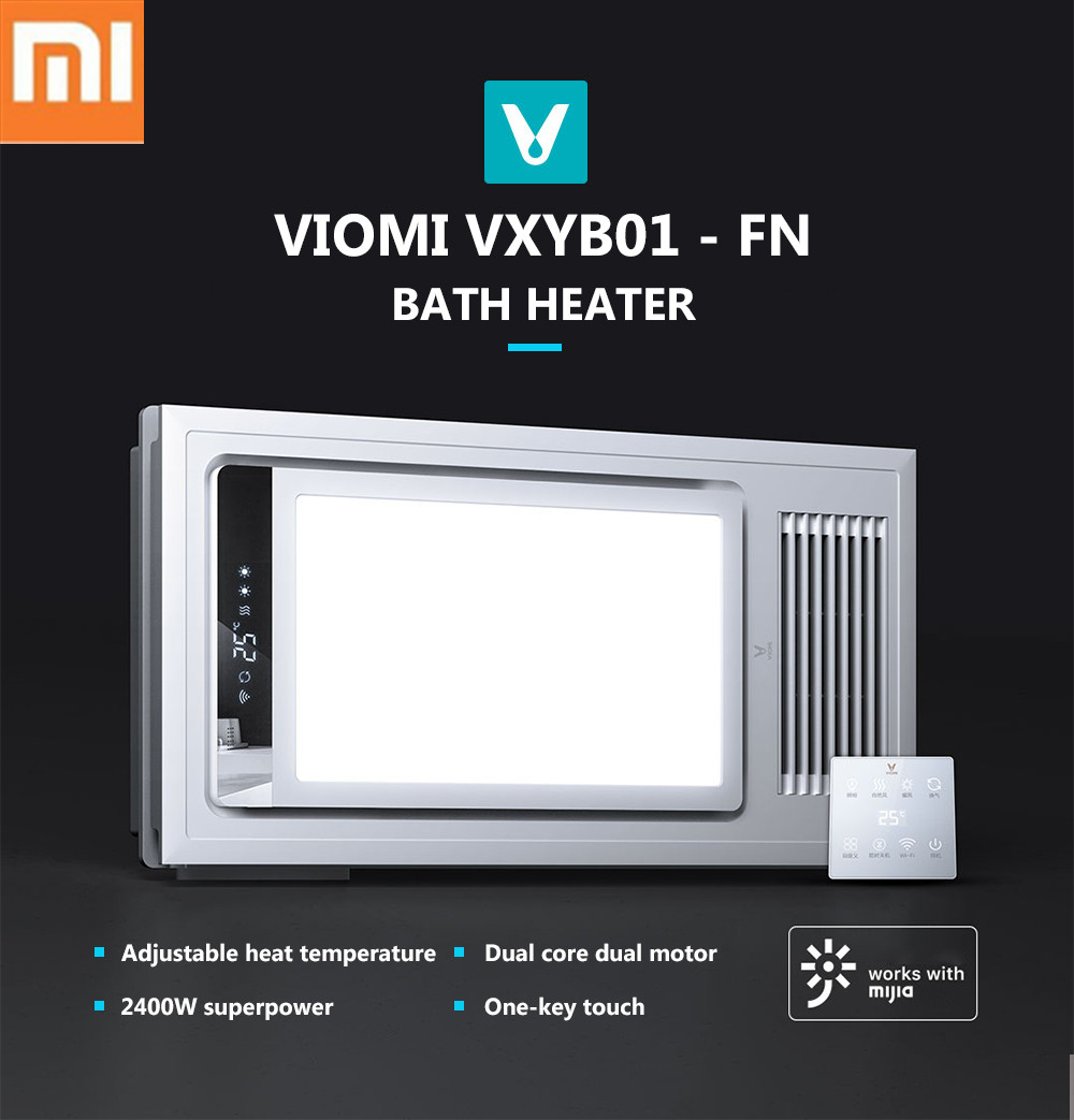 NEW 1 VIOMI XYB01-FN Smart 4 In1 LED Bath Heater Pro Ceiling Light Bathing Light For Mihome APP Remote Control For Bathroom