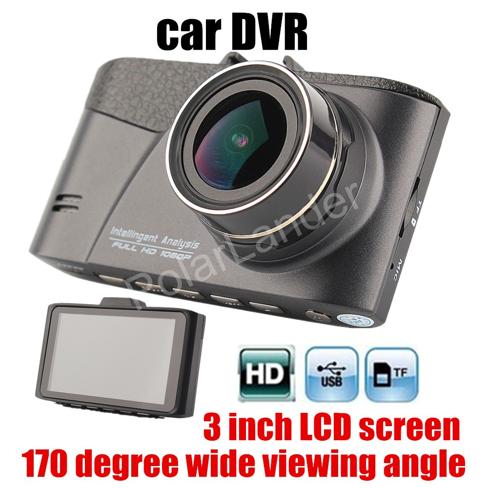 lower price 1080P Car Camera DVR Full HD Digital Video Recorder Auto Dash Cam 170 degree wide viewing angle 3 inch LCD