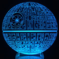 1Pcs/set NEW Star Wars Death Star Action &Toy Figure Gift 3D LED Table Lamp Made of PMMA Have 7 Color Changing Figures Template