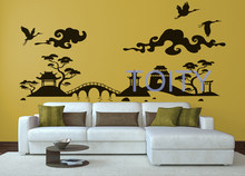 Japanese Landscape Wall Vinyl Decal Orient Sticker Nippon Home Interior Room Decor Removable Mural size M L(China)