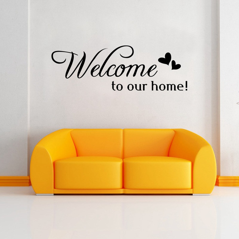 ZUCZUG Welcome To Our Home Quote Wall Stiker Home Decorative Removable vinyl Wall Stickers For Living Room Hotel