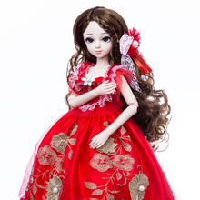 все цены на Princess Anna bjd doll 1/3 60 cm sd doll set DIY collection girl doll gift for age 8 years older with stand онлайн