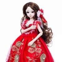 Principessa Anna bambola bjd 1/3 60 centimetri sd bambola set FAI DA TE collection ragazza bambola regalo per le età 8 anni più vecchio con il basamento
