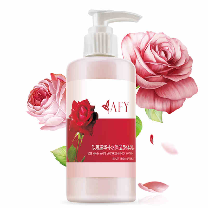 Afy Rose Skin Whitening Body Lotion Body Moisturizing Anti-wrinkle Body Skin Care Cream Rose Fragrance Anti-Dry skin