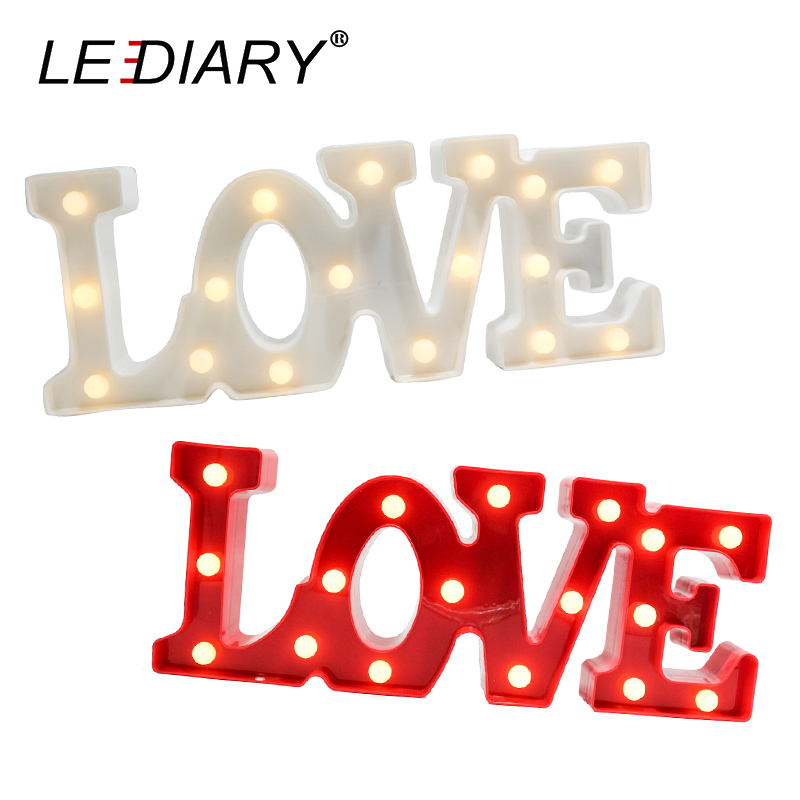 LEDIARY Alphabet LIEBE Buchstaben LED Nacht Lichter Große Größe Mit ...