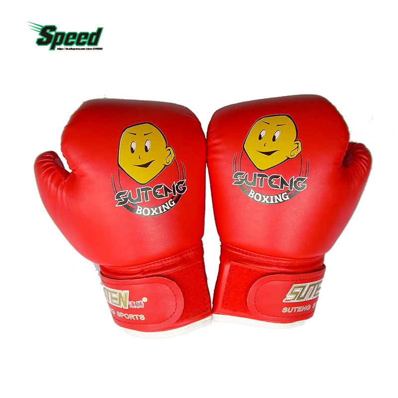 Högkvalitets barn 1 par hållbara boxhandskar Cartoon Sparring Kick Fight Sport Handskar Training Fists PU Leather Muay Sandbag