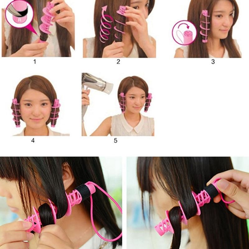Купить с кэшбэком 2Pcs Hair Styling Tools Hair Care Natural Big Wave Curls Rollers Curlers Curling Styling Tool