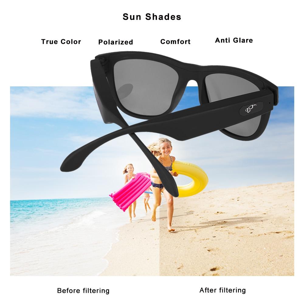 Conduction osseuse Bluetooth écouteur Sport intelligent lunettes de soleil sans fil stéréo musique lunettes de soleil Sport casque casque - 4