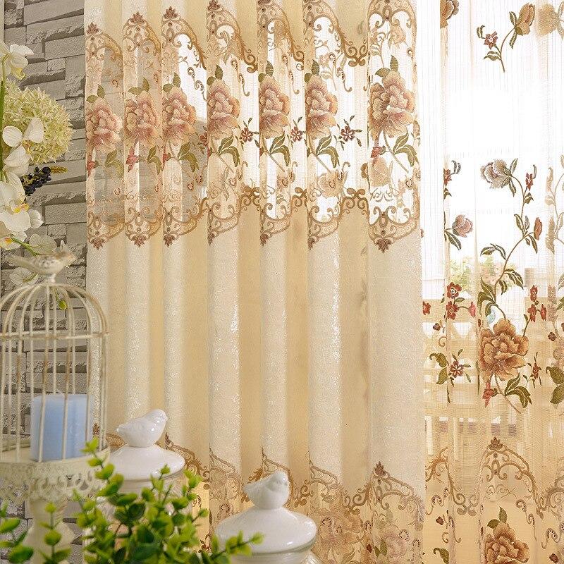Op maat gemaakte Europese stijl luxe beige decoratieve borduurwerk - Thuis textiel - Foto 3