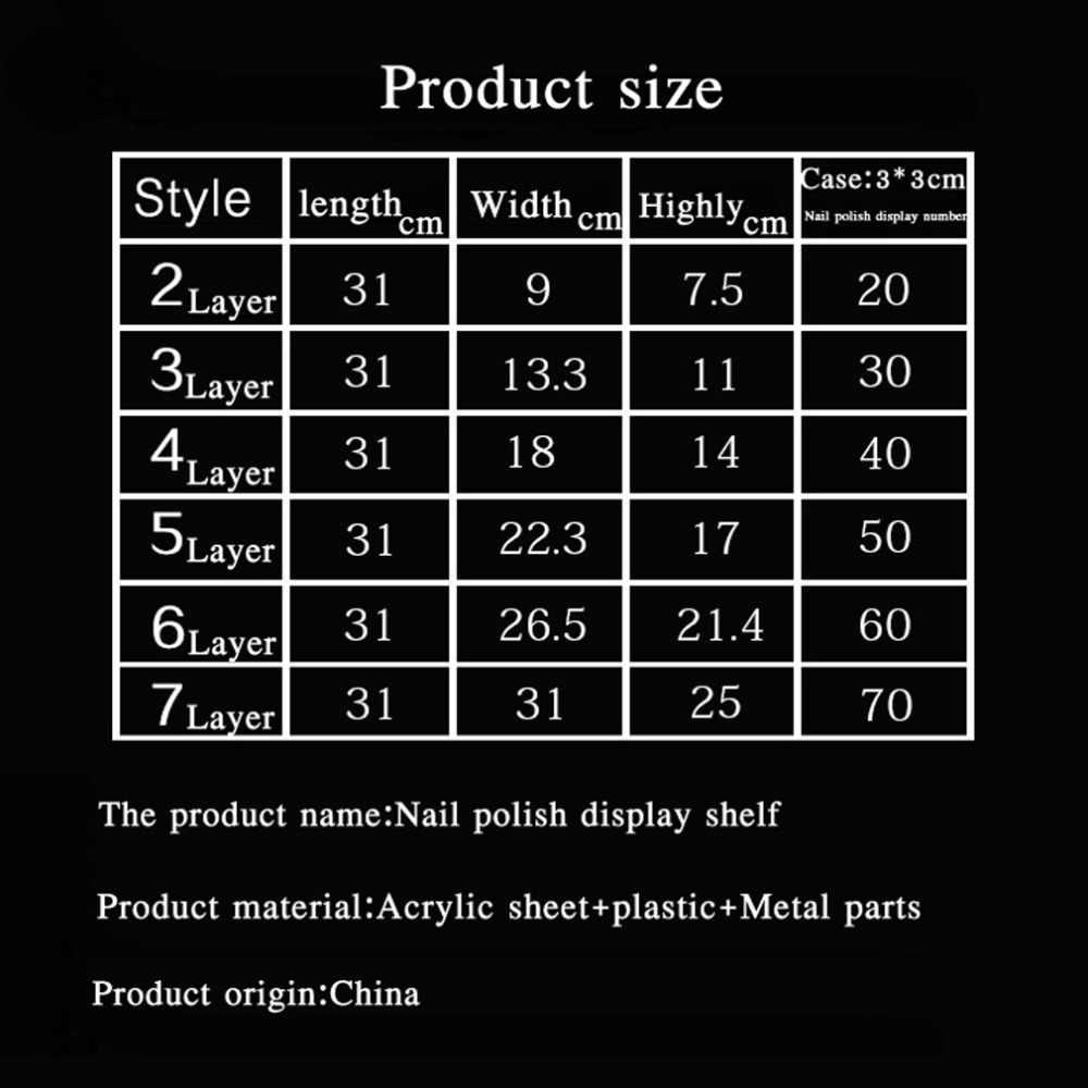 Promosi baru Makeup Kosmetik 4 Tingkatan Batal Acrylic Organizer Mac Lipstik/Masker Perhiasan Tampilan Berdiri Pemegang Kuku Rak Polish
