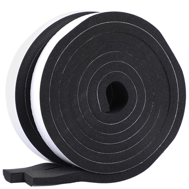"NEW 1//2/"" Wide x 1//8/"" Thick Black Silicon Foam 20/' Gasket Tape Rolls Lot of 6"