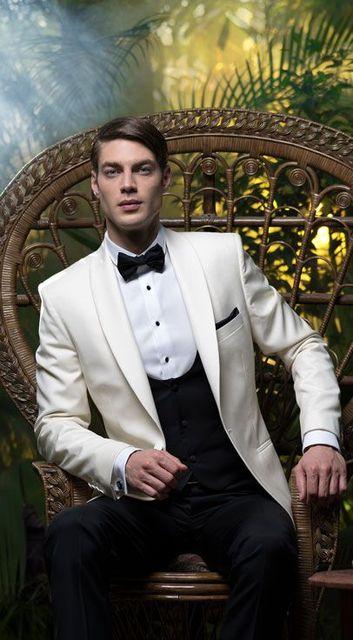 1e7ec69b756f 2017 Latest Coat Pant Design Beige Black Men Wedding Suits Slim Fit 3 Piece  Tuxedo Groom Style Suit Custom Prom Blazer Masculino