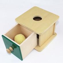 Niños Bebé de Juguete De Madera Montessori Imbucare Caja w/Bola De Punto de Aprendizaje Preescolar Educación Formación Brinquedos Juguets