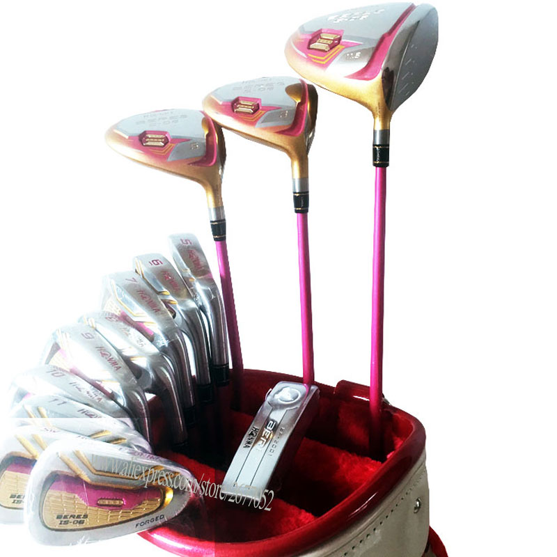 New Women Golf Clubs HONMA S-06 Complete Set S-06 Golf driver wood irons Clubs Graphite Golf shaft No bag Free shipping