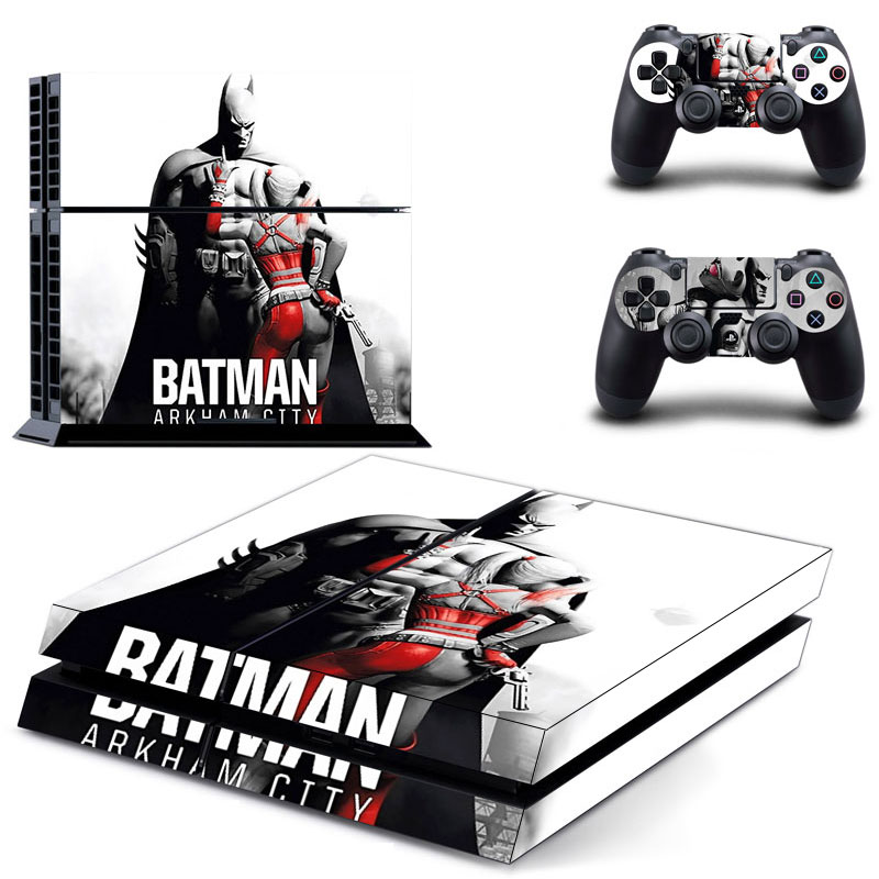 FREE SHIPPING! PS4 Batman Arkham Knight Decal Stickers