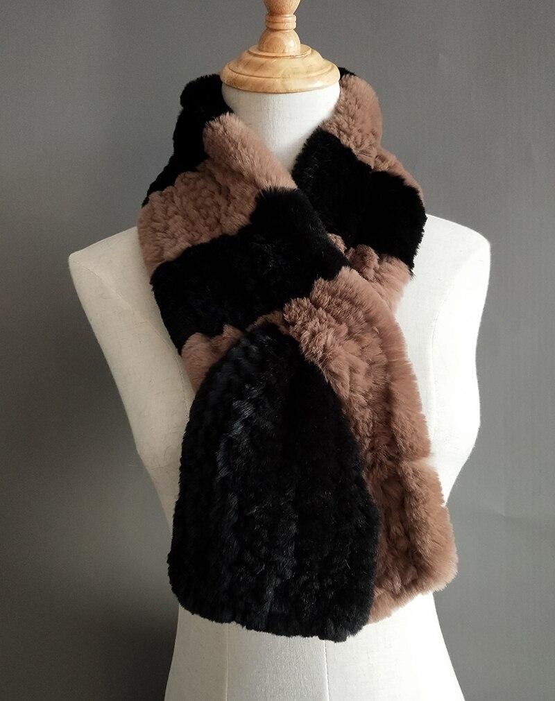Natural Fur Scarf Women Winter Real Rex Rabbit fur Scarves cachecol bufandas New arrival muffler thermal Soft (9)