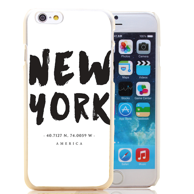 New York Location Coordinates Style Case for iPhone 7 6 6s plus 5 5s SE 5c 4 4s