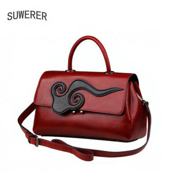 New women Genuine Leather  bags Fashion Clouds luxury women handbags bags designer tote women leather shoulder bag